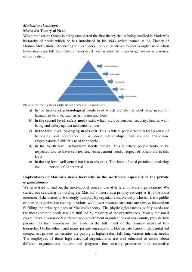 a discussion on theories of motivation An overview here of maslow's famous hierarchy of needs - a popular model of the factors that determine motivation at work.