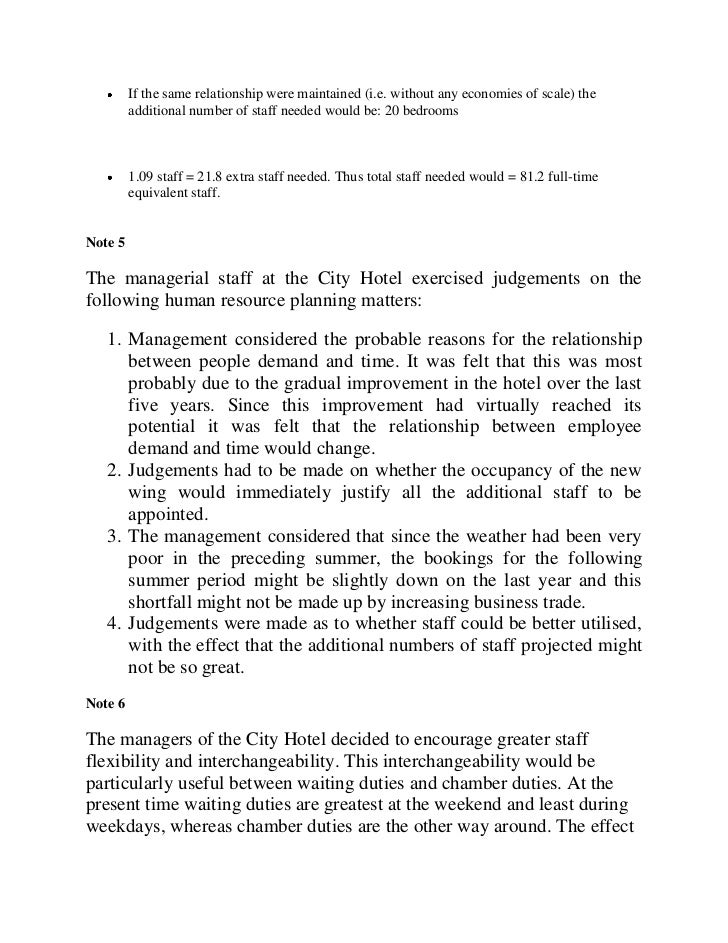 case study on hr planning Human resources development: a case-study of south africa contents paragraphs page introduction  d planning and managing human resources.