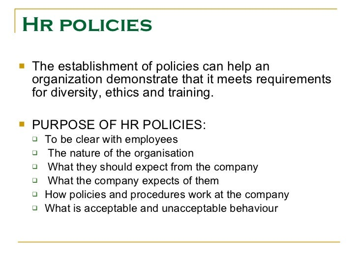 hr policy You now know the relevance of the guidelines set by the set hr policies and  procedure of any company well if creating one is one of your.