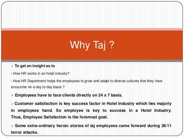 Taj hotel hr functions