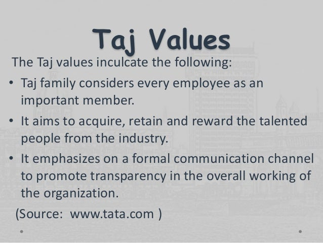 taj group of hotels Indian hotels company limited, branded as taj group, is a chain of hotels and resorts headquartered at oxford house in mumbai.