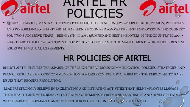 airtel hr strategy Training and development strategies of airtel subject: human  hr division  of airtel primarily offers following three types of training skill development.