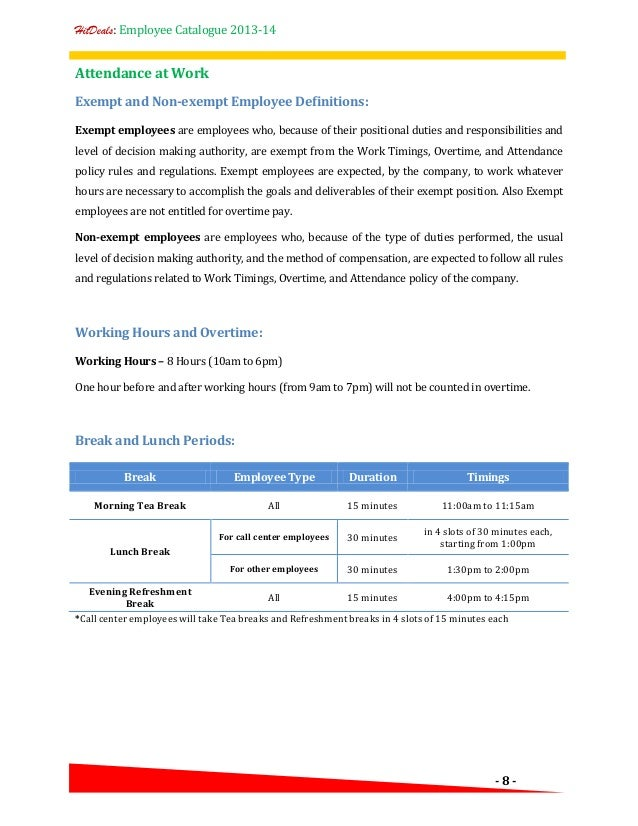 Computer Use Policy Template Hr Policy Employee Catalogue A Template For Your Company