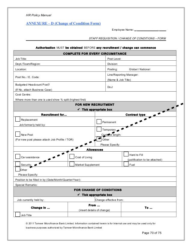 headcount requisition template  Human Resource Policy 2011-12