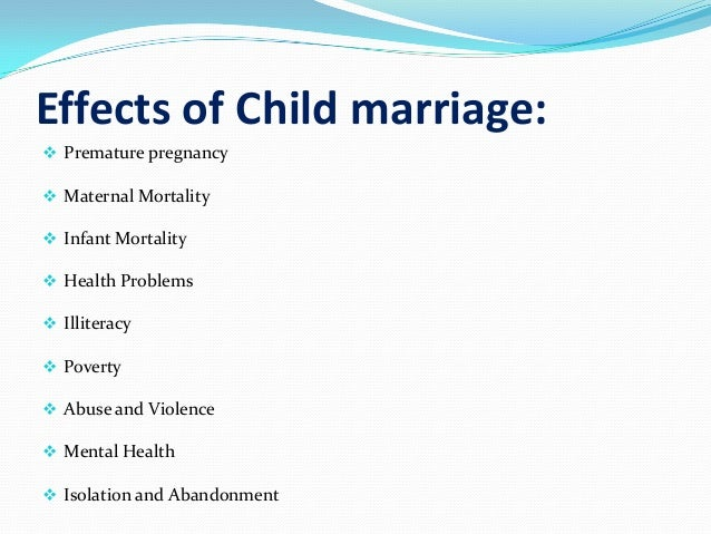 effect early marriage essay Free cause and effect early marriage papers, essays, and research papers.