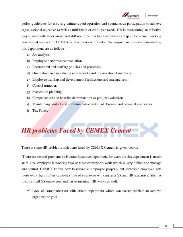 swot analysis for cemex cement company Extensive industry and company analysis and summarize these findings in the swot analysis this will assess cemex cemex is the world's third largest cement.