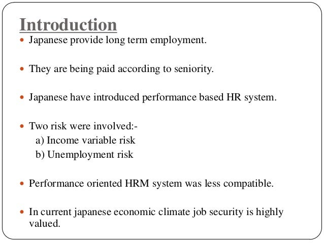 japanese employment practices Japanese business customs an understanding of japanese business and social practices is useful, if not required,.