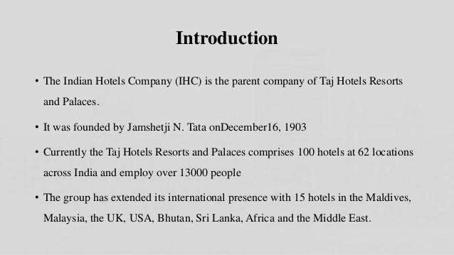 mba hr projects in hotel industry