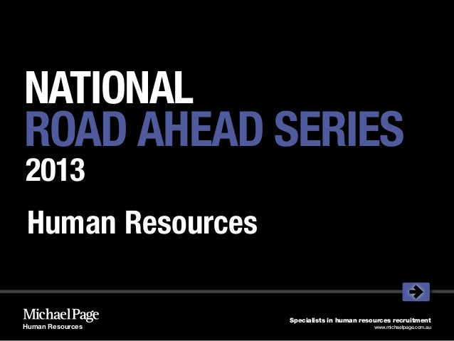 NATIONALROAD AHEAD SERIES2013 Human Resources                   Specialists in human resources recruitmentHuman Resources ...