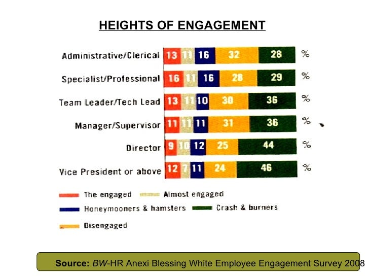 HEIGHTS OF ENGAGEMENT Source:   BW -HR Anexi Blessing White Employee Engagement Survey 2008