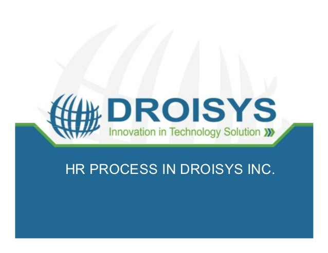 HR PROCESS IN DROISYS INC.