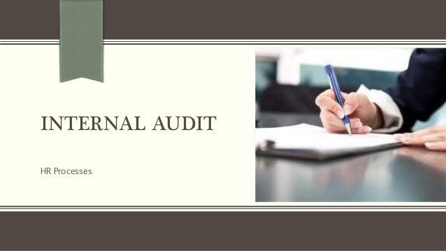 INTERNAL AUDIT HR Processes