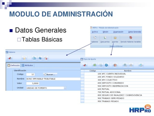  Datos Generales Tablas Básicas MODULO DE ADMINISTRACIÓN