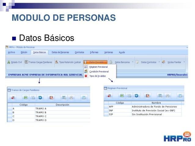  Datos Básicos MODULO DE PERSONAS