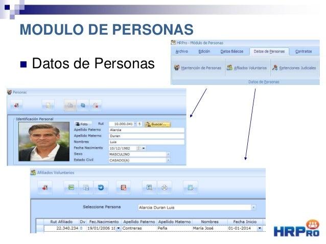  Datos de Personas MODULO DE PERSONAS