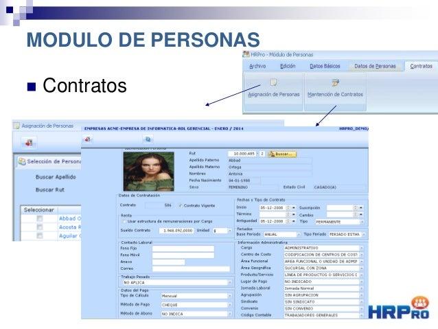  Contratos MODULO DE PERSONAS