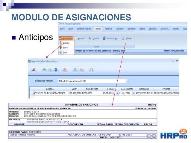  Anticipos MODULO DE ASIGNACIONES