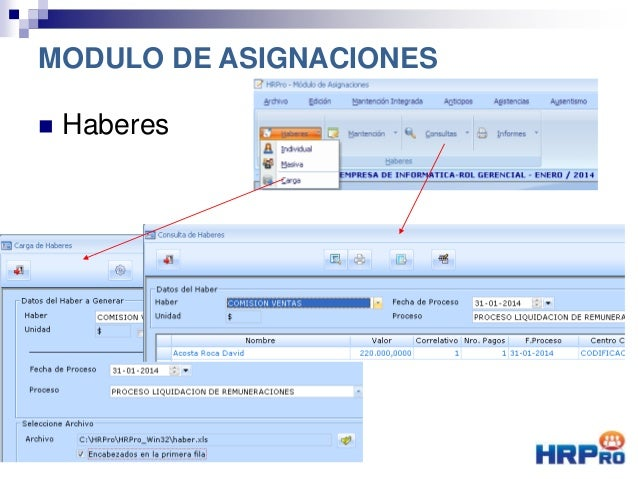  Haberes MODULO DE ASIGNACIONES