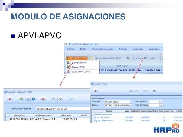  APVI-APVC MODULO DE ASIGNACIONES