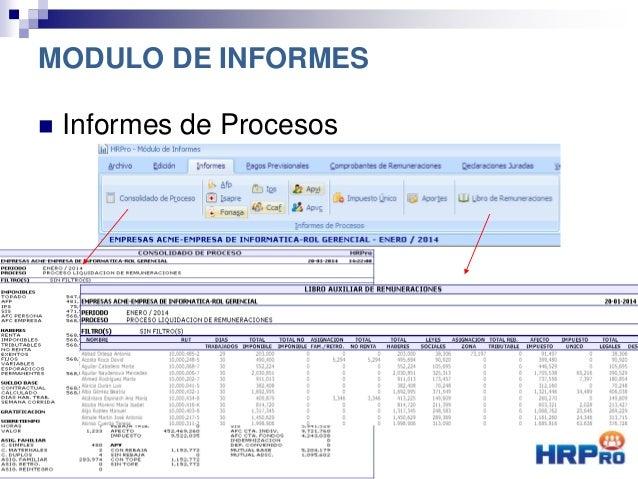  Informes de Procesos MODULO DE INFORMES