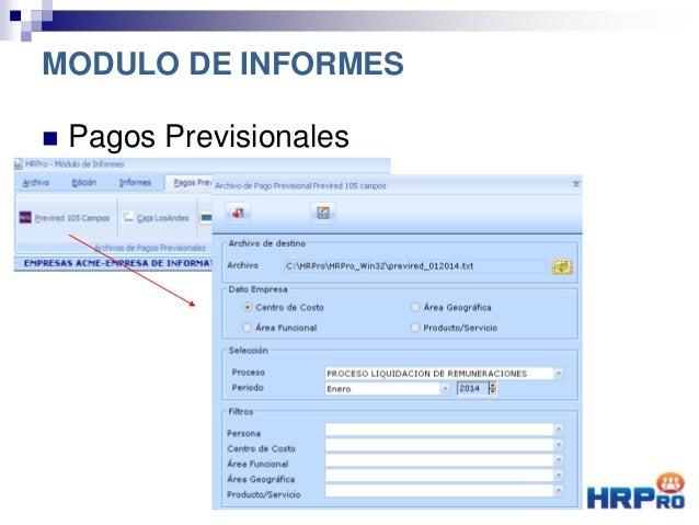  Pagos Previsionales MODULO DE INFORMES