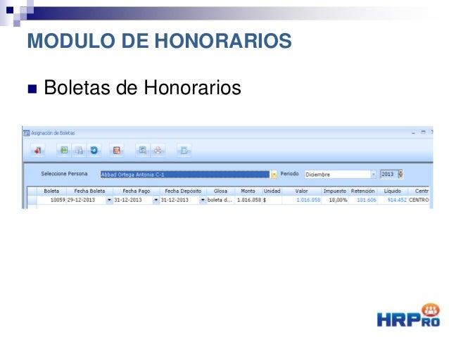  Boletas de Honorarios MODULO DE HONORARIOS