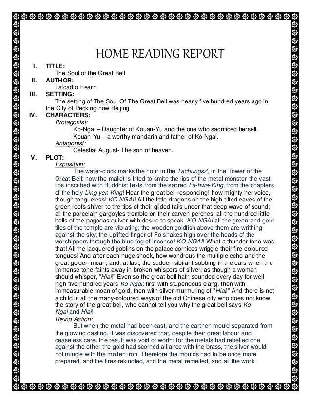 Book report tagalog elementary