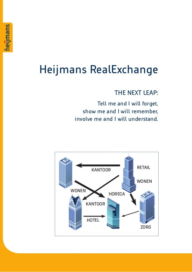 Heijmans RealExchange                        THE NEXT LEAP:               Tell me and I will forget,         show me and I...