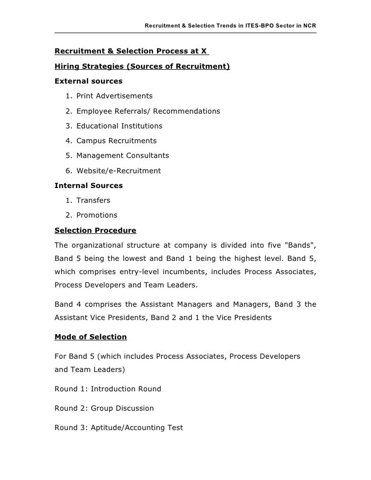 recruitment and selection strategies final Strategic recruitment and selection process management essay linked to strategy strategic recruitment and selection process.