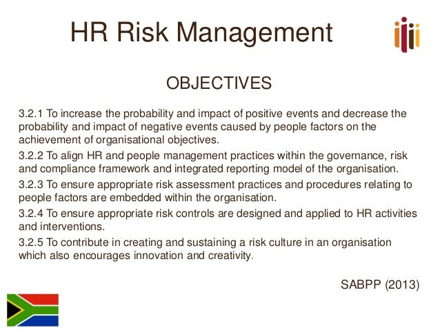 The National Standard on HR Risk Management