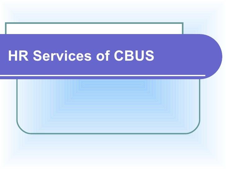HR Services of CBUS