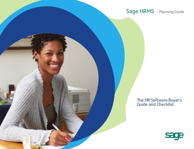 Sage HRMS I Planning Guide  The HR Software Buyer's Guide and Checklist
