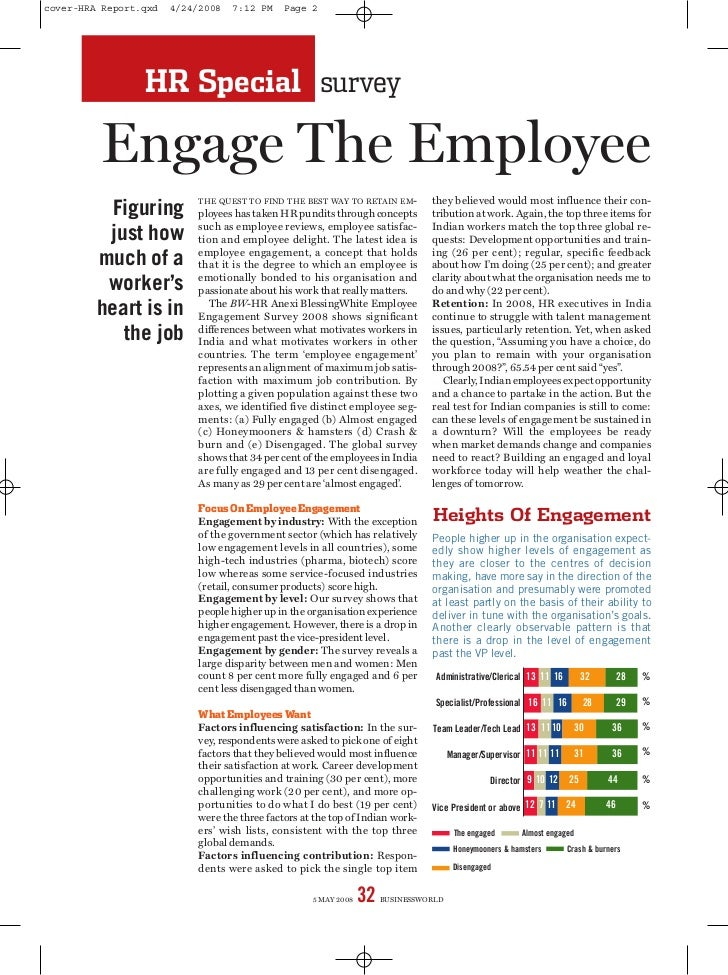 cover-HRA Report.qxd   4/24/2008   7:12 PM     Page 2                 HR Special survey         Engage The Employee       ...