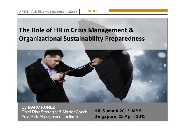 ARiMI  –  Asia  Risk  Management  Ins0tute   NOTES   By MARC RONEZ Chief Risk Strategist & Master Coach Asia...