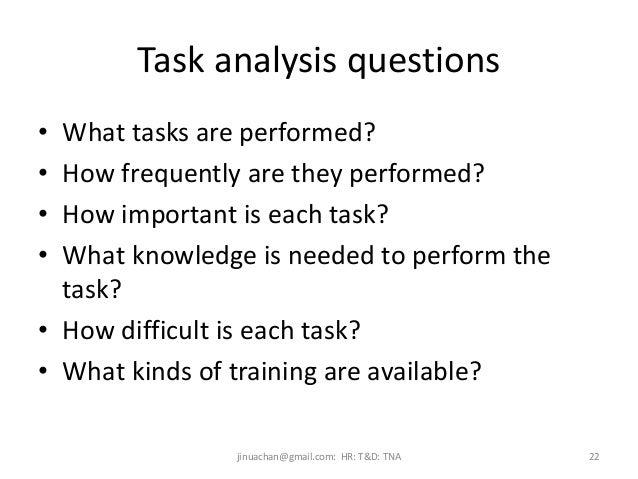 essay training needs analysis