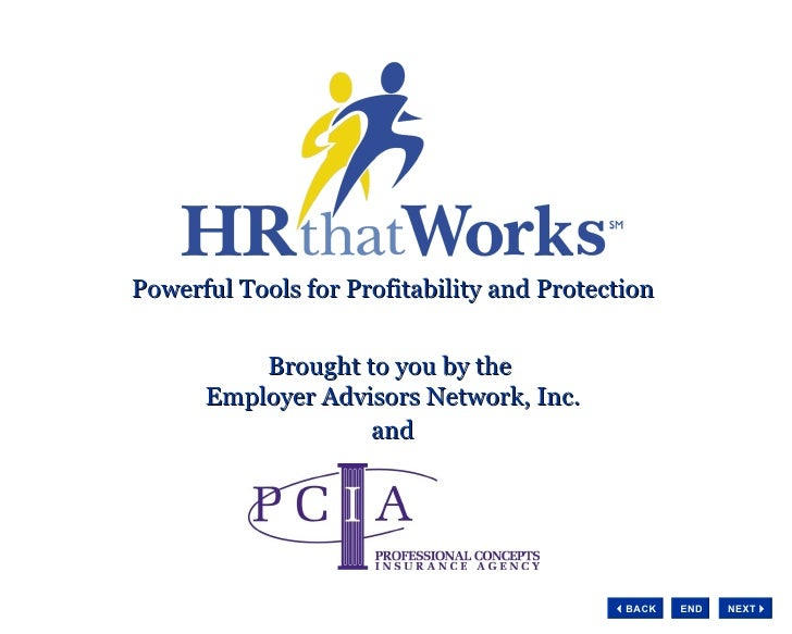 Powerful Tools for Profitability and Protection Brought to you by the  Employer Advisors Network, Inc. and