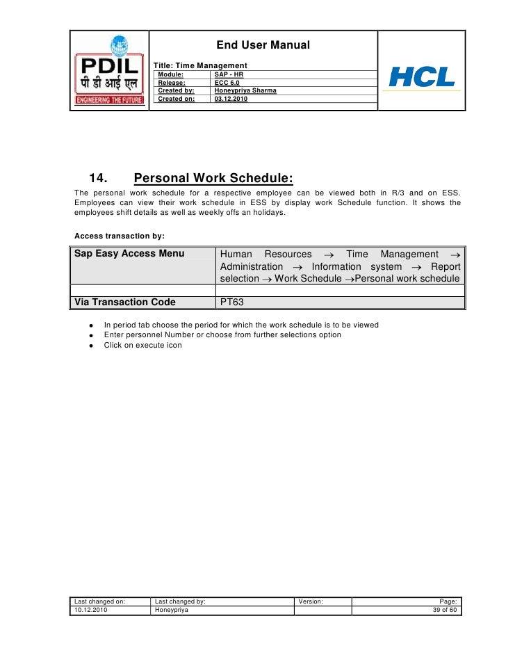 sap hr time management user guide www sapdocs info SAP HR Department sap hr payroll end user manual