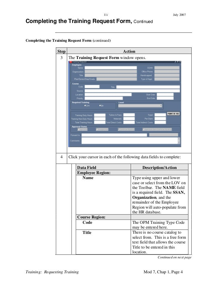 Training Request Form. Training Request Form Request Form Template ...