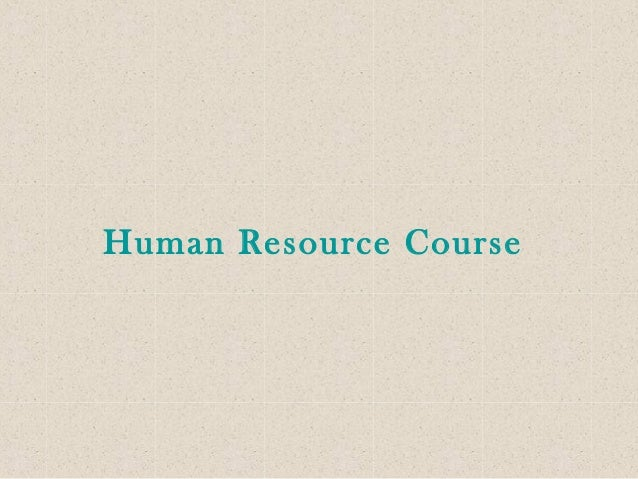 Human Resource Course