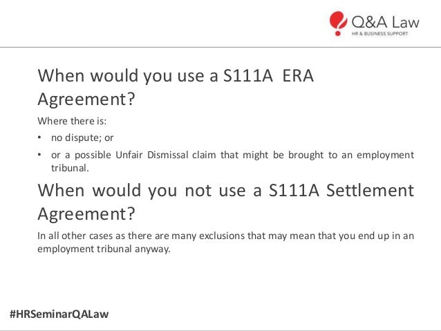 Hr and employment law updates october 2013 6 hrseminarqalaw settlement agreements platinumwayz
