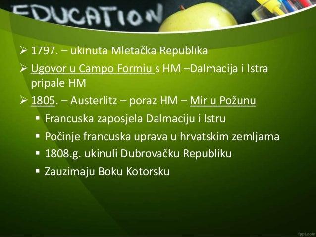 Hrvatske zemlje pod francuskom vlašću Slide 2
