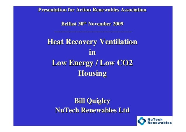 Presentation for Action Renewables AssociationPresentation for Action Renewables Association Belfast 30Belfast 30thth Nove...