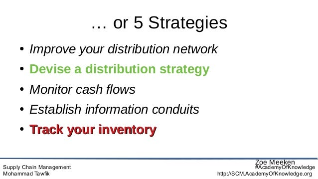 Supply Chain Management Mohammad Tawfik #AcademyOfKnowledge http://SCM.AcademyOfKnowledge.org … or 5 Strategies ● Improve ...