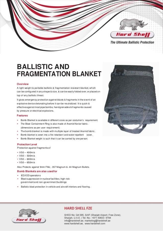 Bomb Blanket Manufacturer, Supplier- Hard Shell