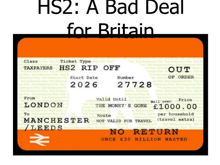 HS2: A Bad Deal  for Britain