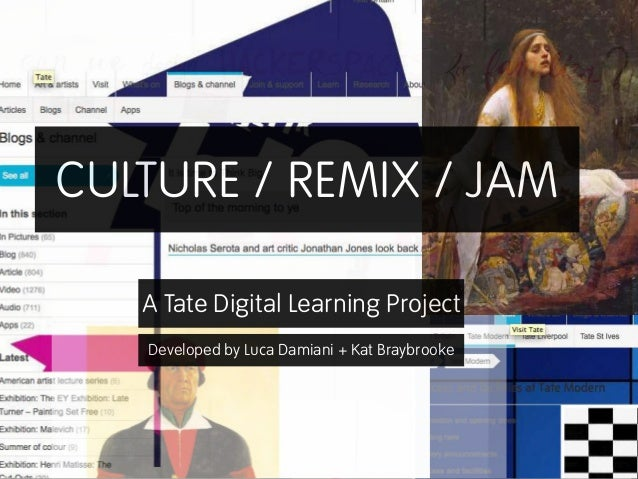 CULTURE / REMIX / JAM Developed by Luca Damiani + Kat Braybrooke A Tate Digital Learning Project