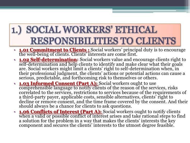 essay on code of ethics for social workers The nasw code of ethics offers a set of values, principles and standards to guide decision-making and everyday professional conduct of social workers.