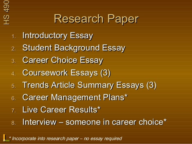 career choice essay