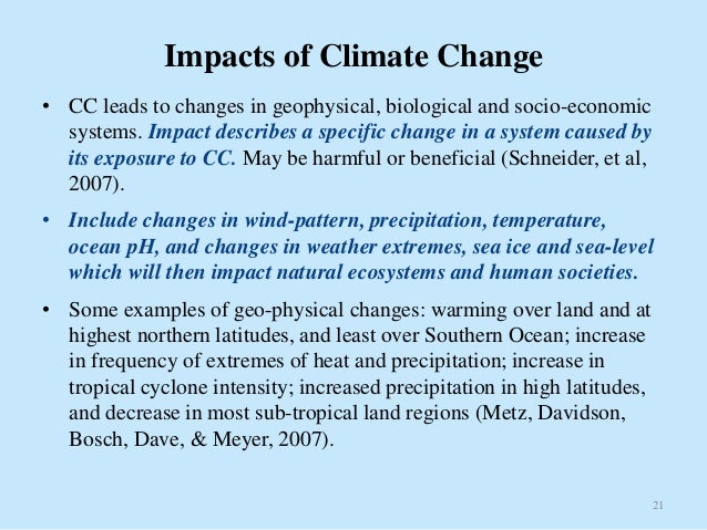 Climate Change: Causes, Impacts and Vulnerability Assessment