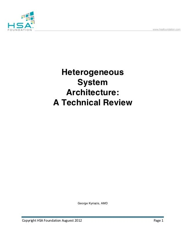 Heterogeneous                                System                              Architecture:                           A...